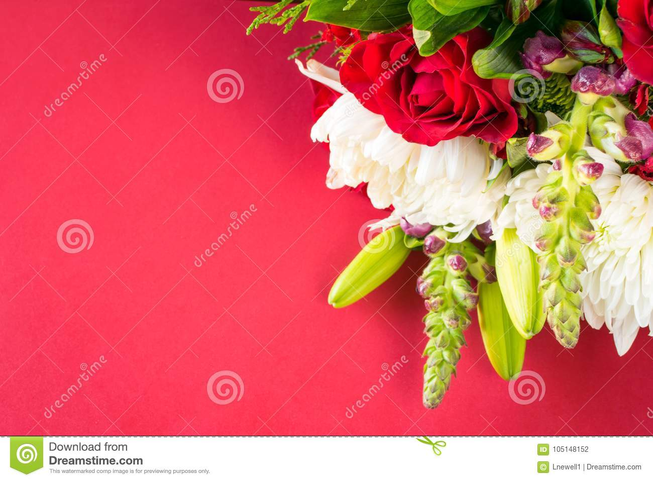 Flower bouquet on green background stock photo image of download flower bouquet on green background stock photo image of celebration fillers 105148152 izmirmasajfo