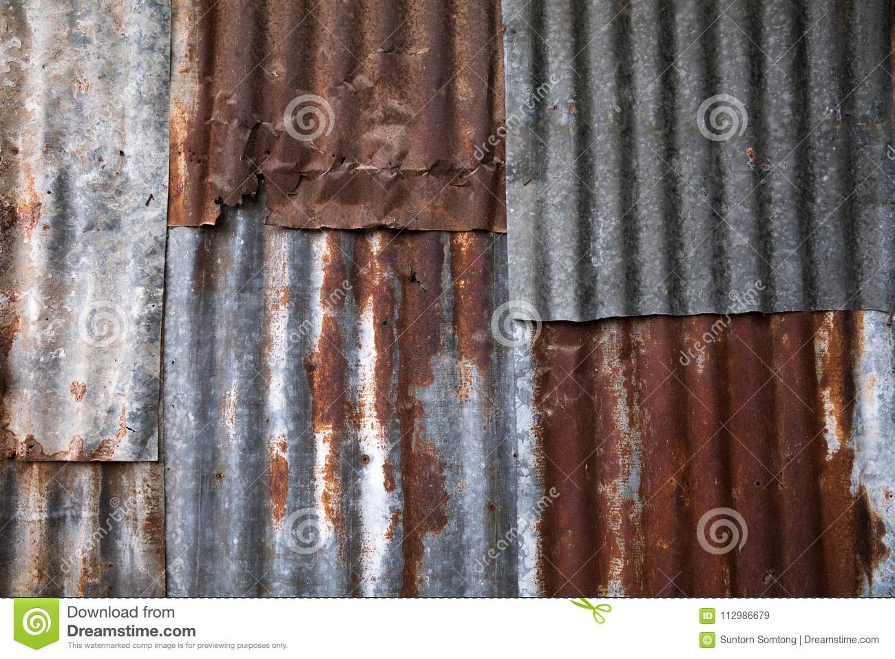 Galvanized steel sheet, rusted surface background.