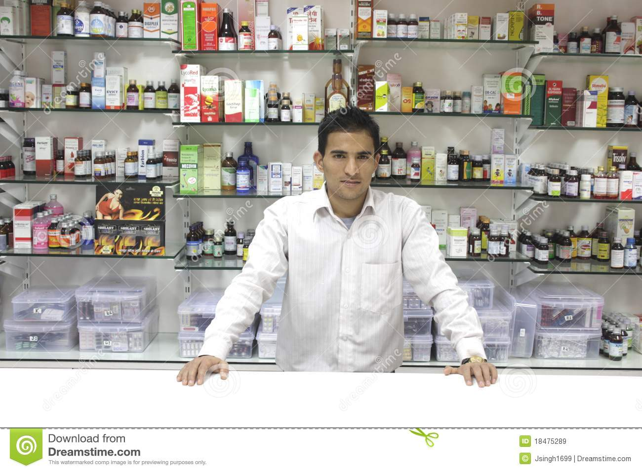 closeup of a salesman of a medical store editorial stock image image of medicine colorless. Black Bedroom Furniture Sets. Home Design Ideas