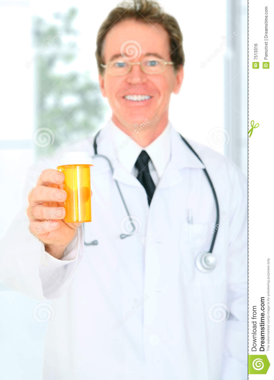 closeup senior doctor giving medicine stock photo image of male