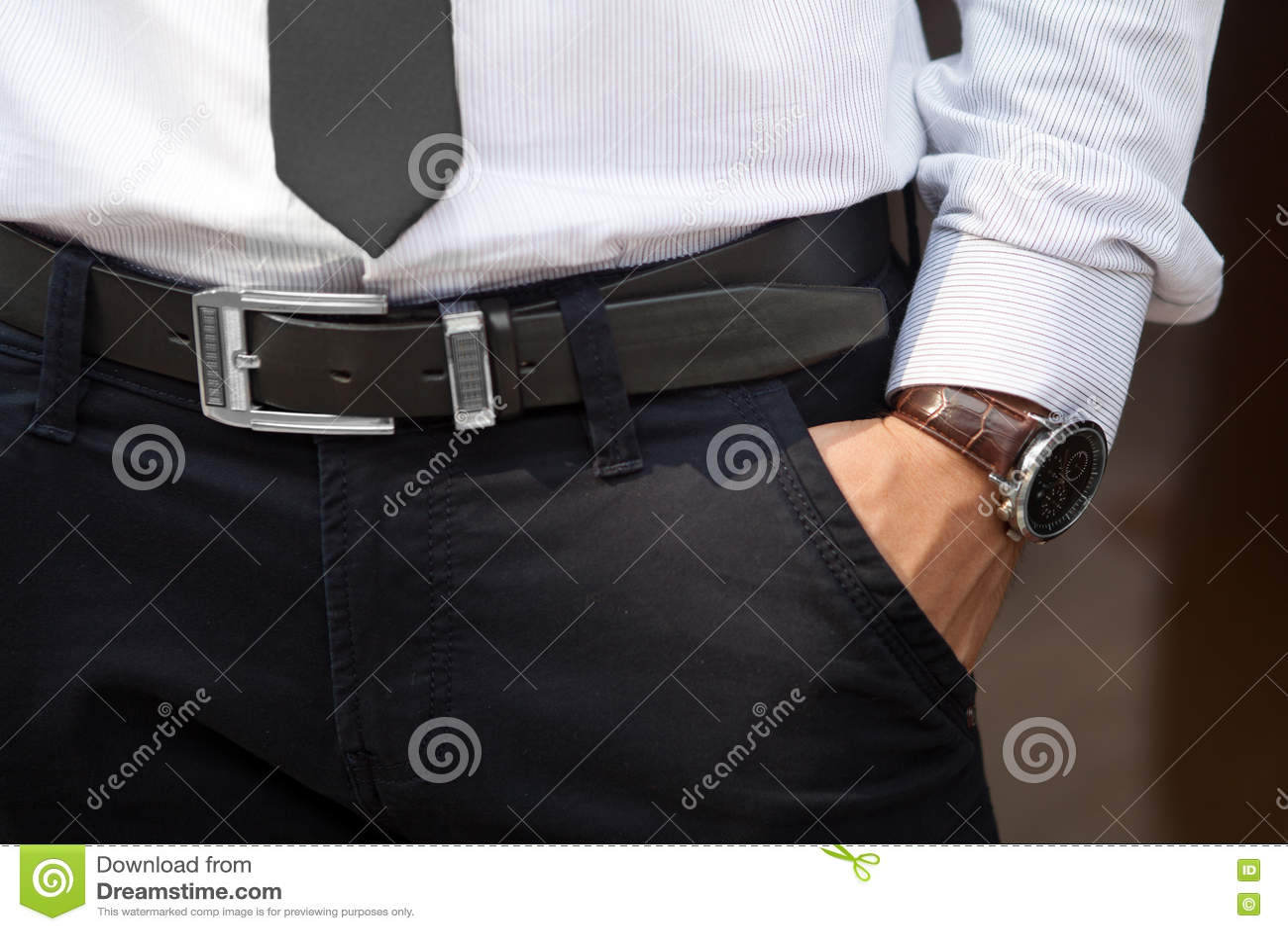 Closeup shot of male waist stock image. Image of belt ...