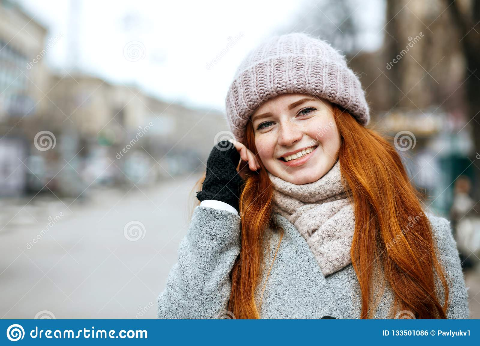Gorgeous Redhead Young Woman Stock Image - Image of adult
