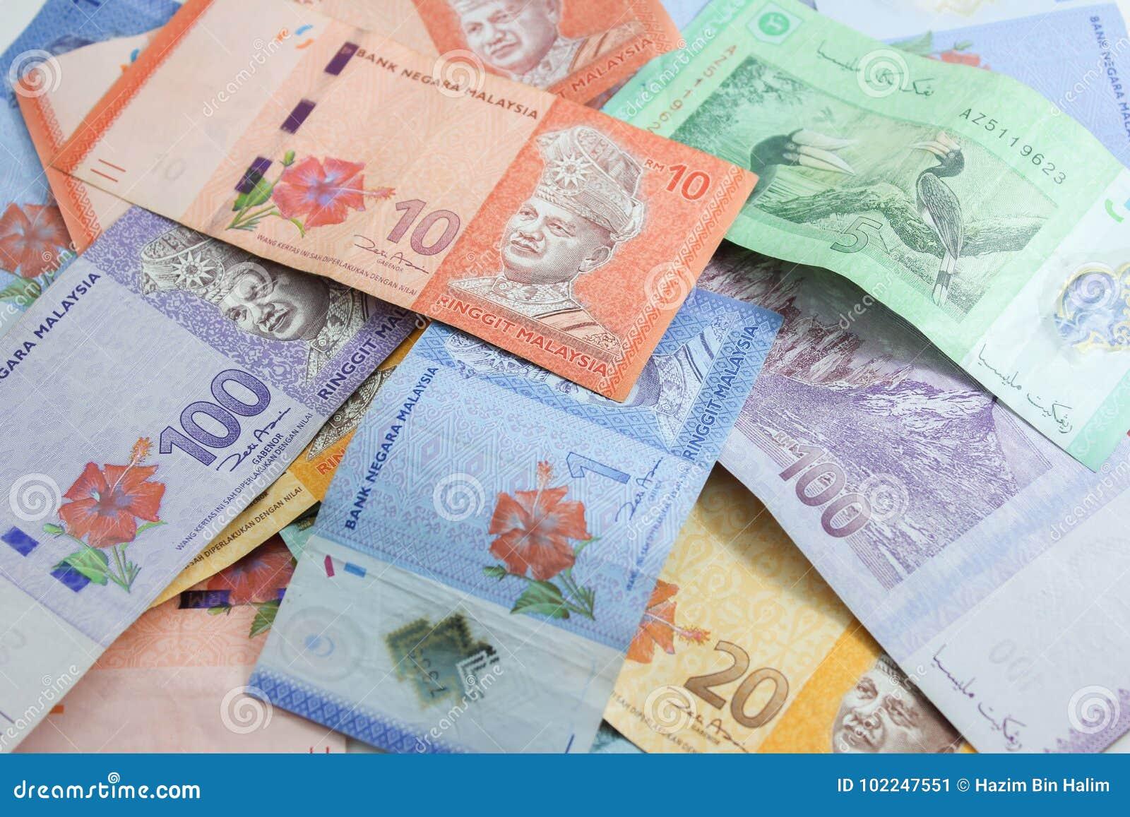 Closeup Shot Of Ringgit Malaysia Stock Image - Image of cash