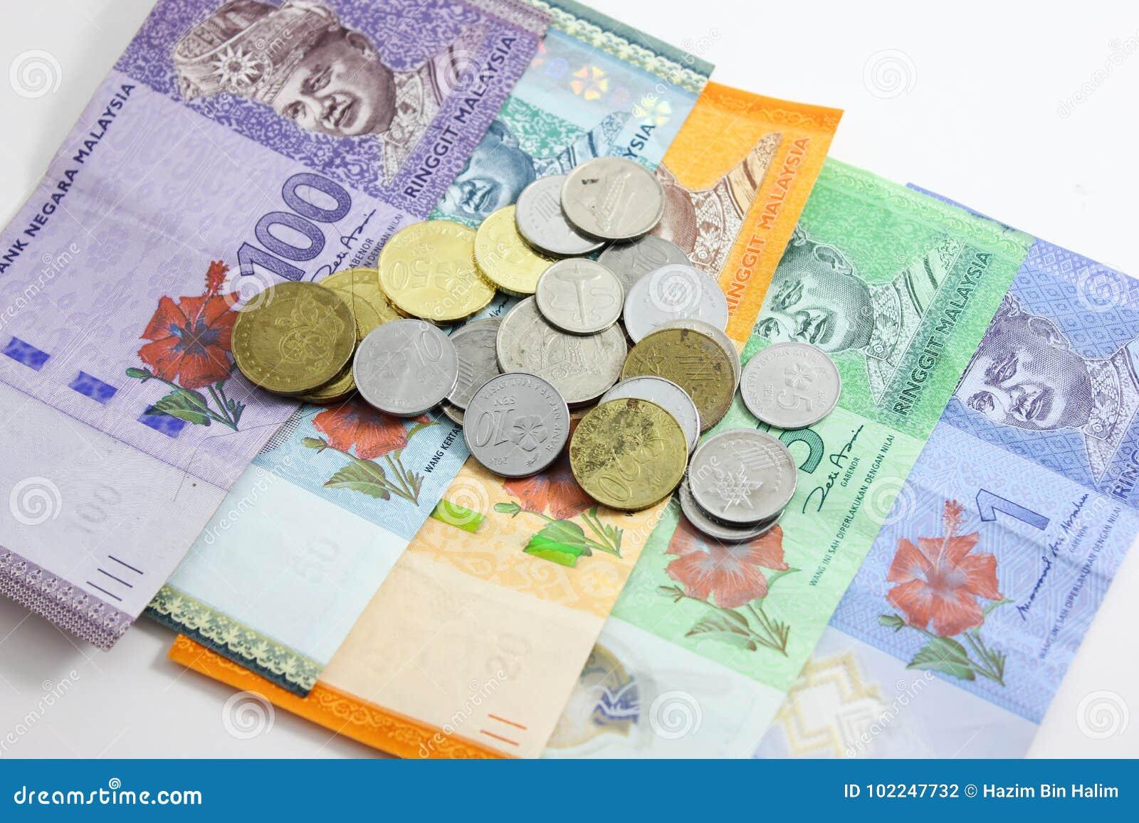 Closeup Shot Of Ringgit Malaysia Stock Photo - Image of note, bank