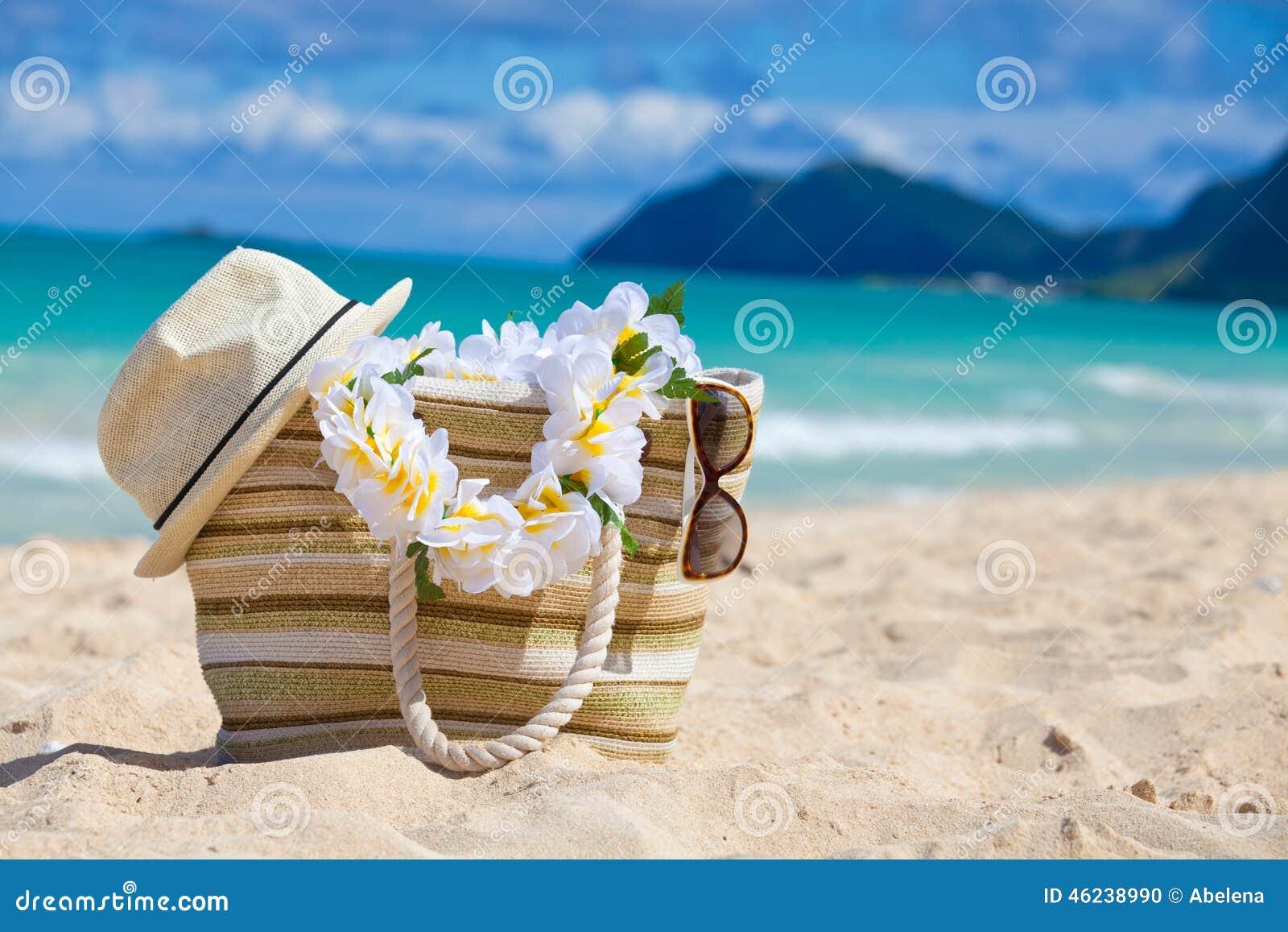 Closeup Of Summer Beach Bag Stock Photo - Image: 46238990