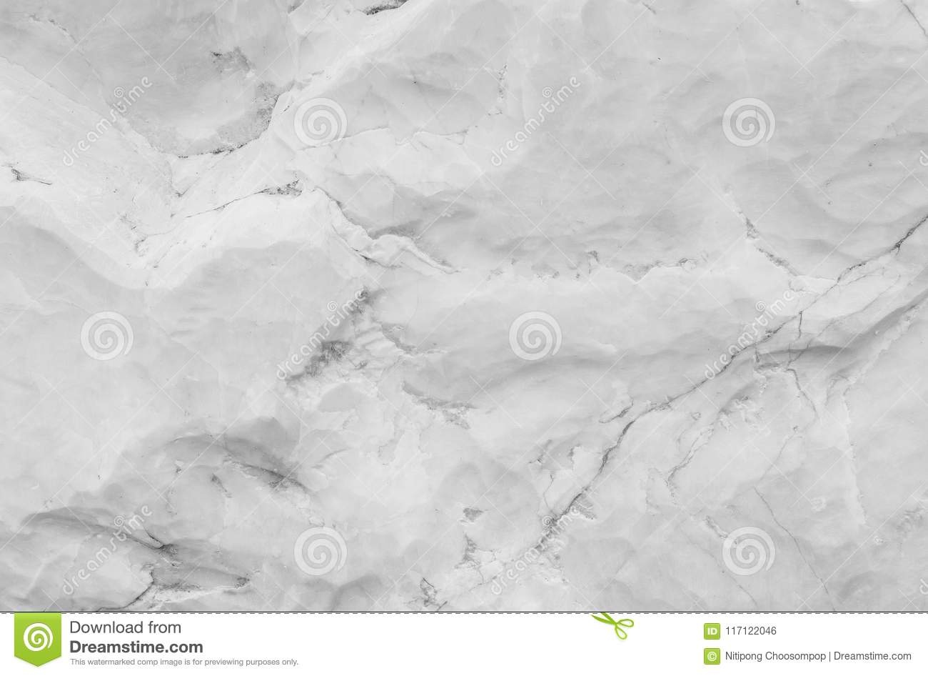 Closeup surface abstract marble pattern at the marble stone for decorate in the garden texture background in black and white tone