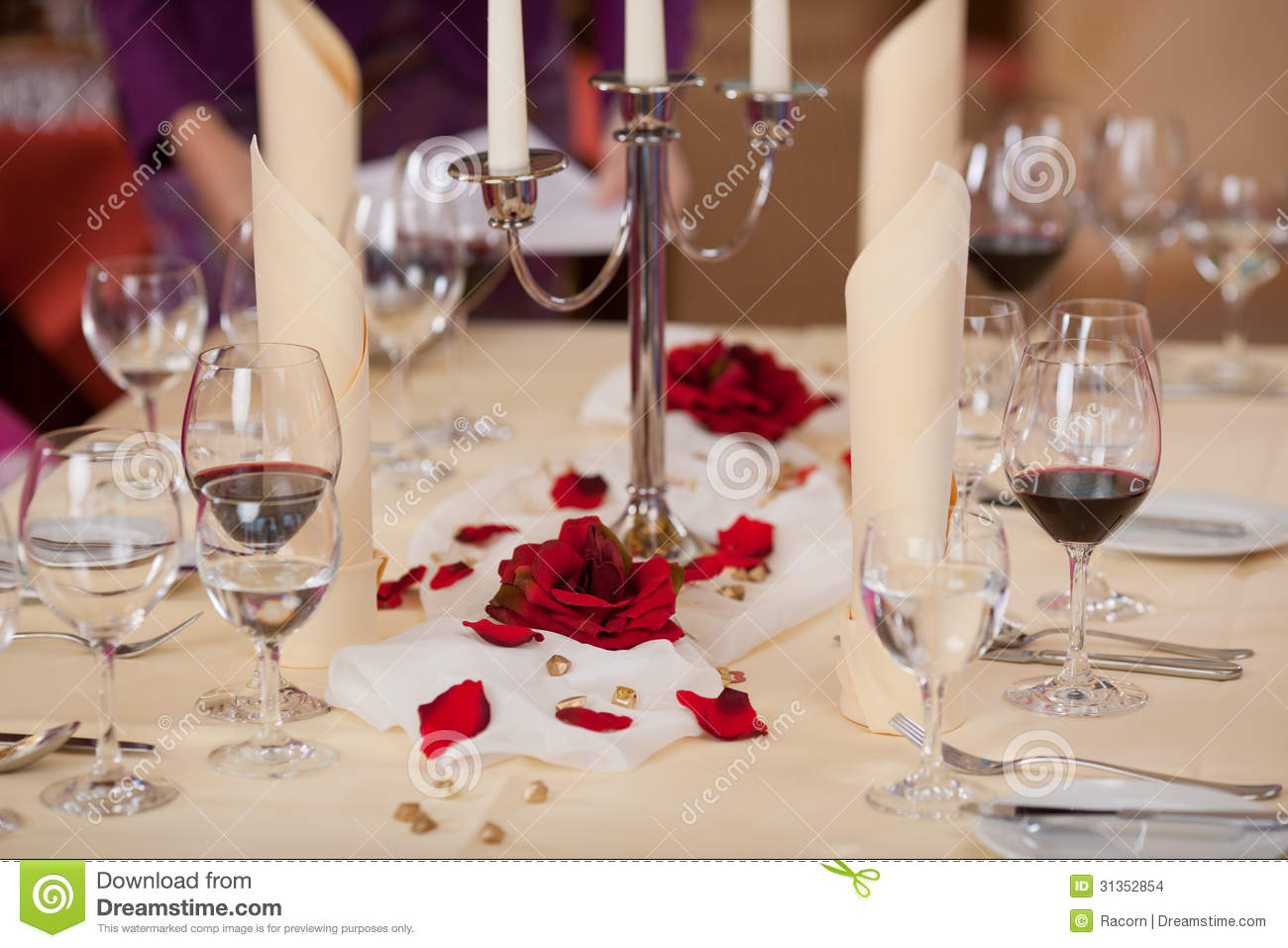 Closeup Of Table Setting Stock Images Image 31352854