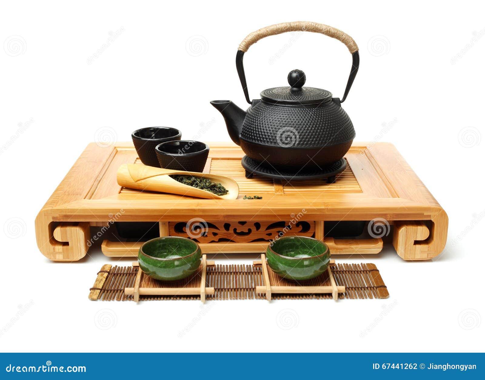 Closeup of tea set