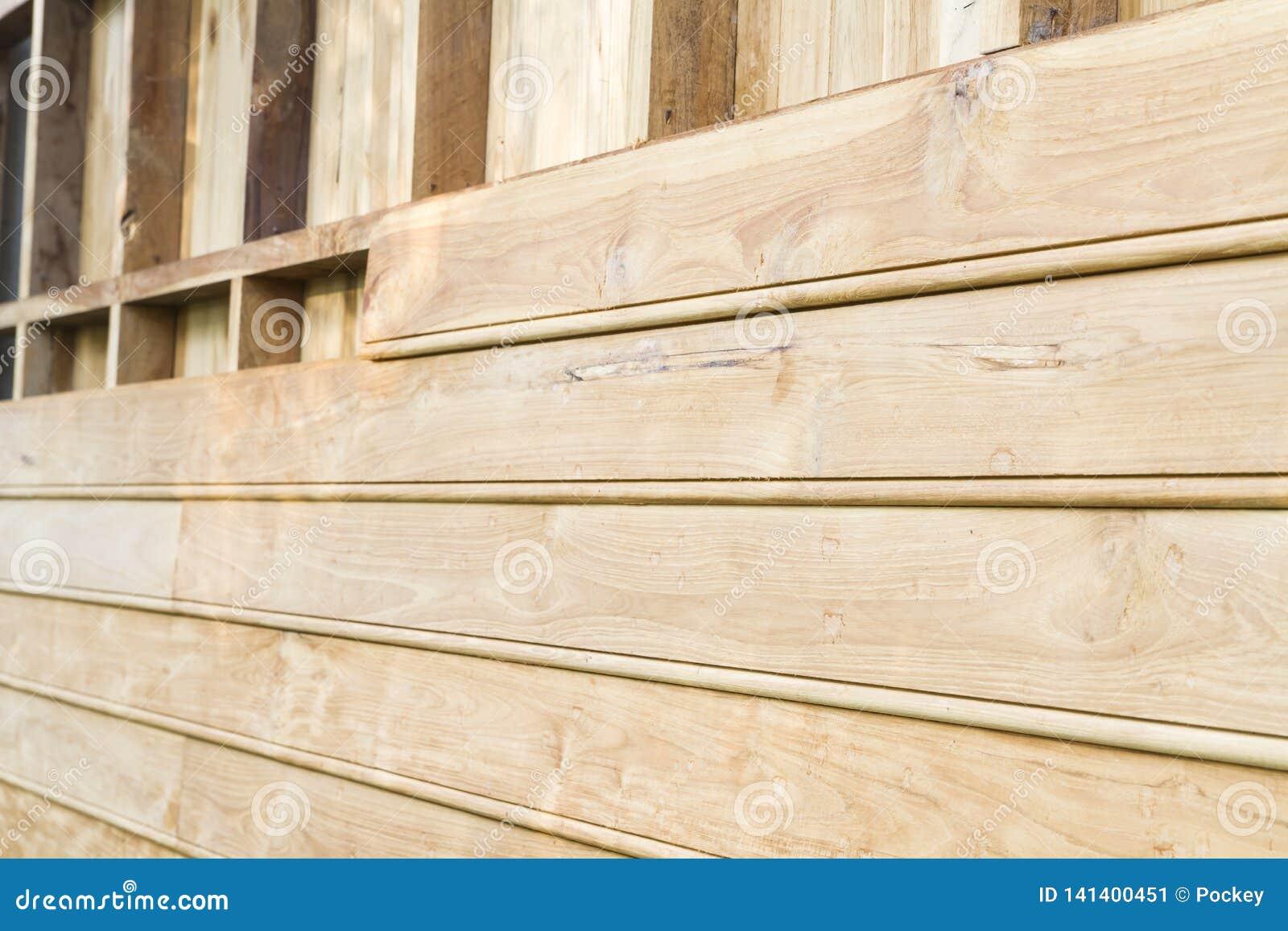 Closeup Teak Wood Wall Detail Stock Image Image Of Nature