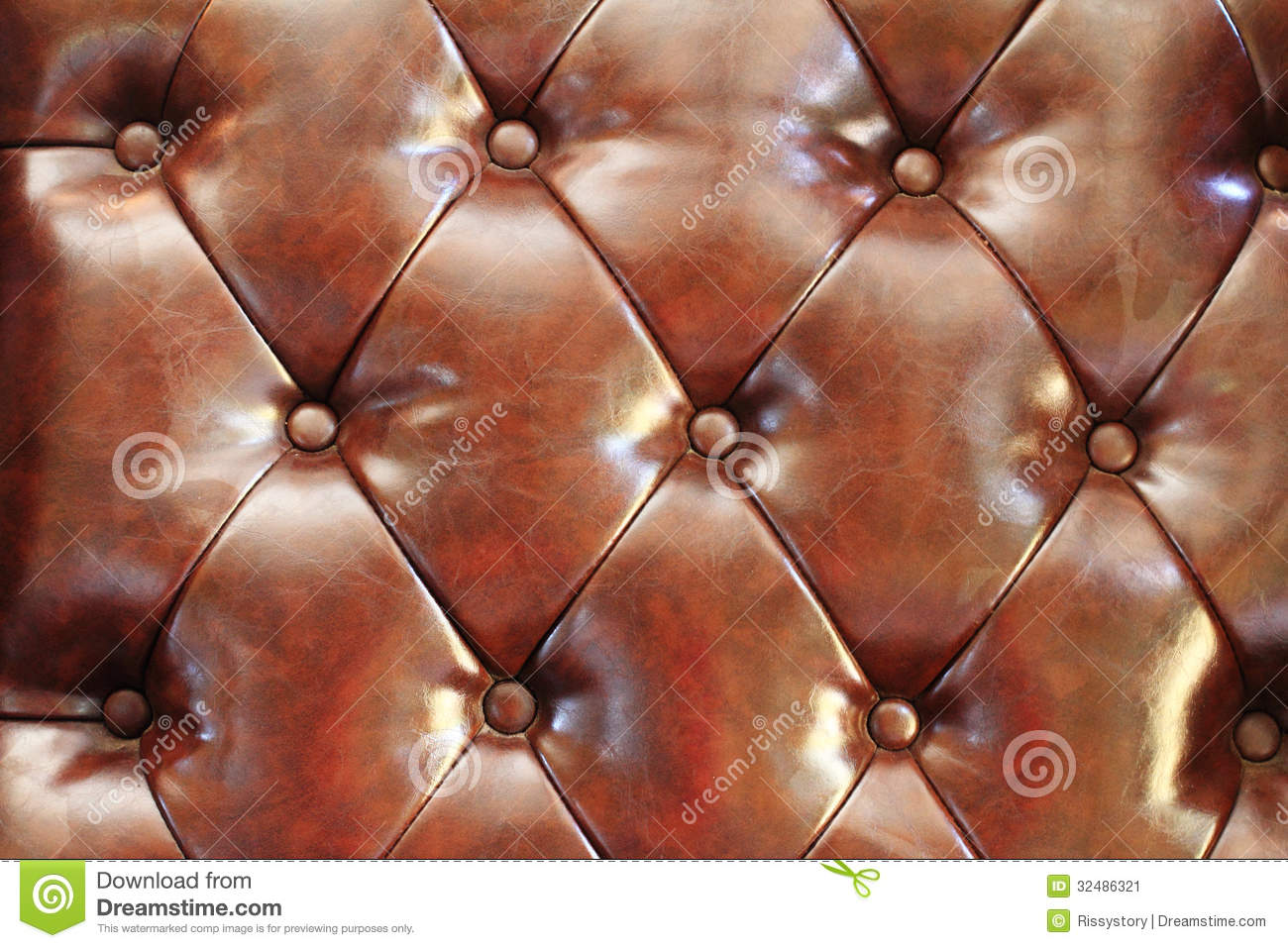 Leather cushion texture - Closeup Texture Of Vintage Brown Stock Image