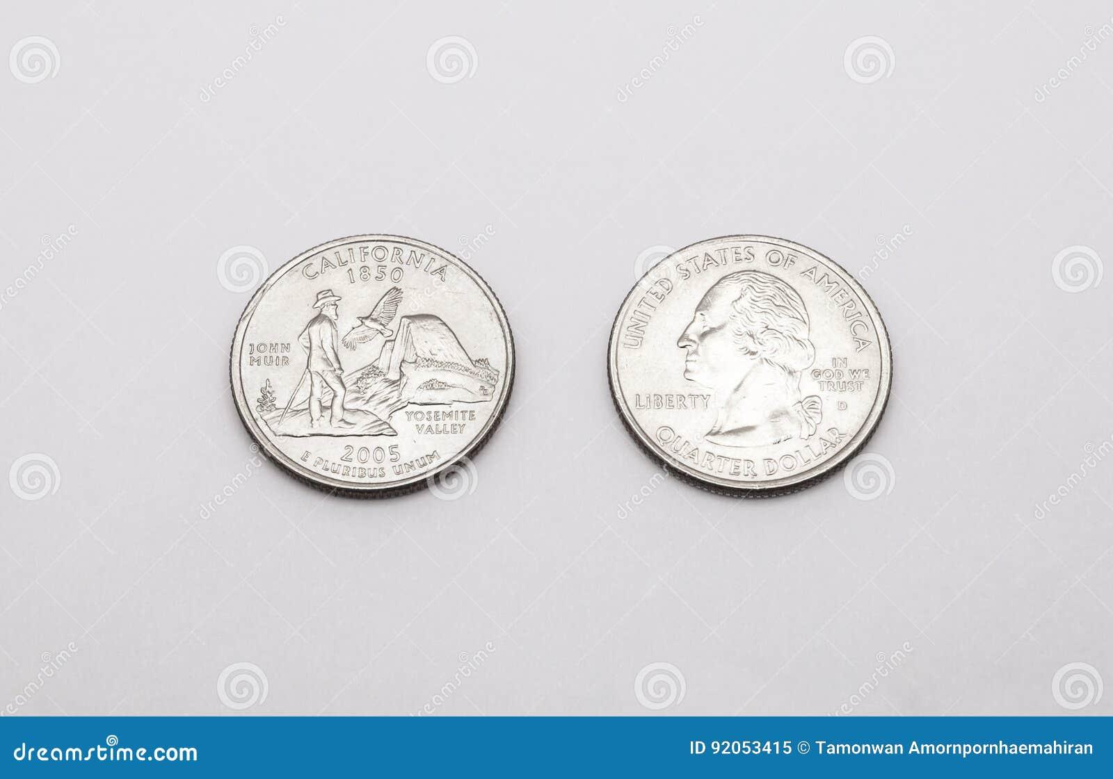 Closeup to california state symbol on quarter dollar coin on white royalty free stock photo buycottarizona