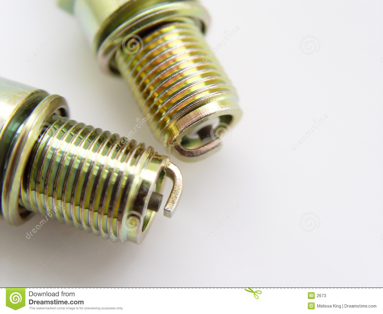 Closeup of two Spark Plugs