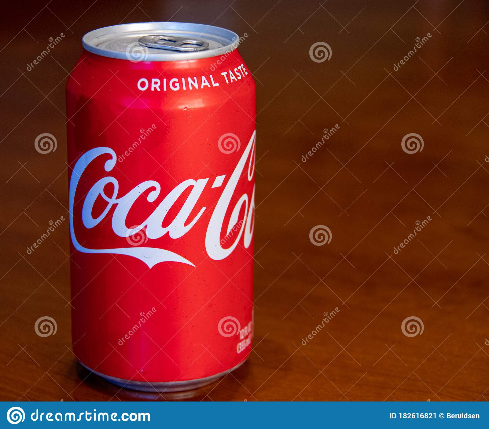 Closeup View Of A Can Of Coca Cola Editorial Photo