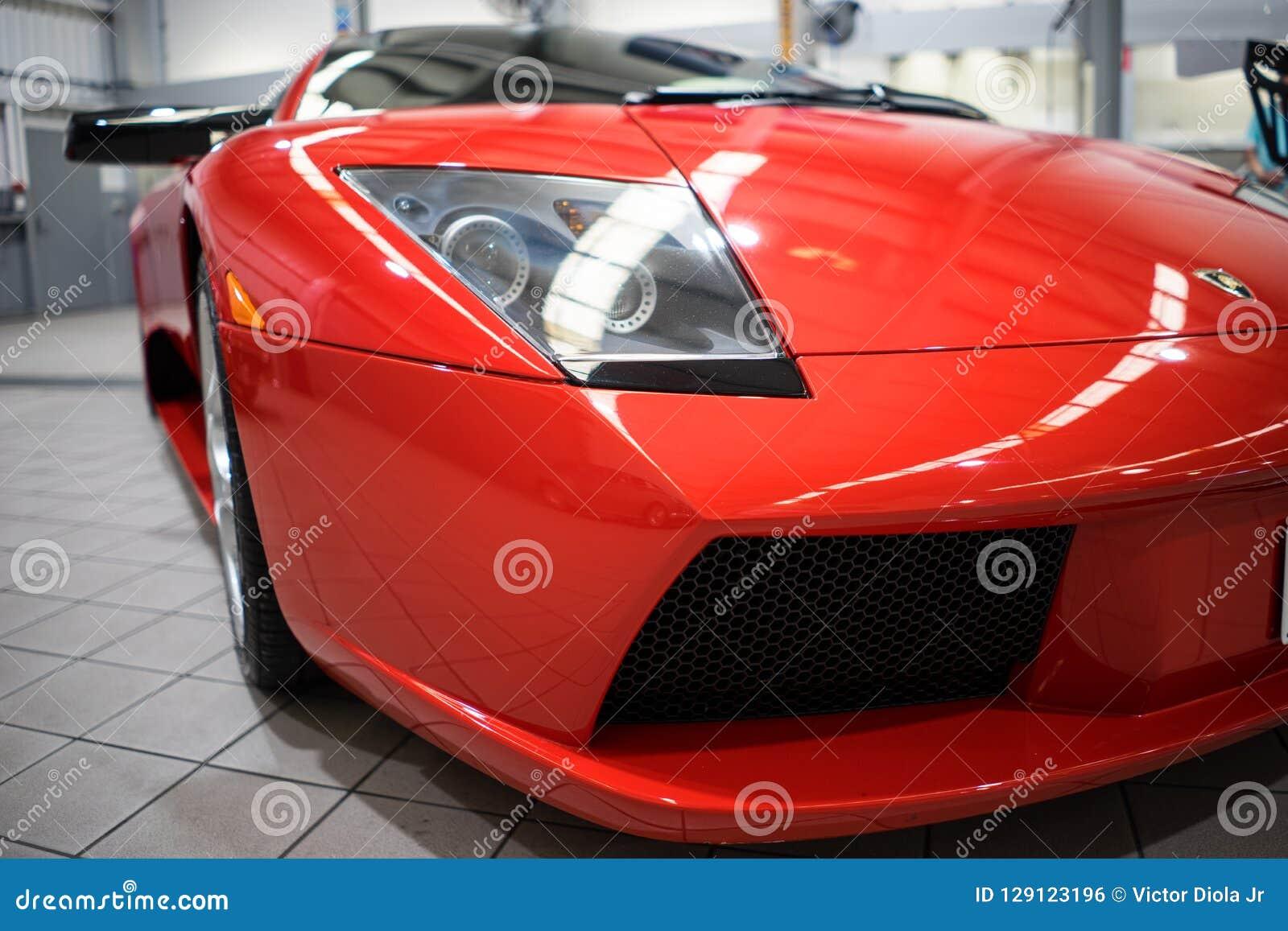 Lamborghini Mucielago Closeup Front Editorial Photo Image Of Grill