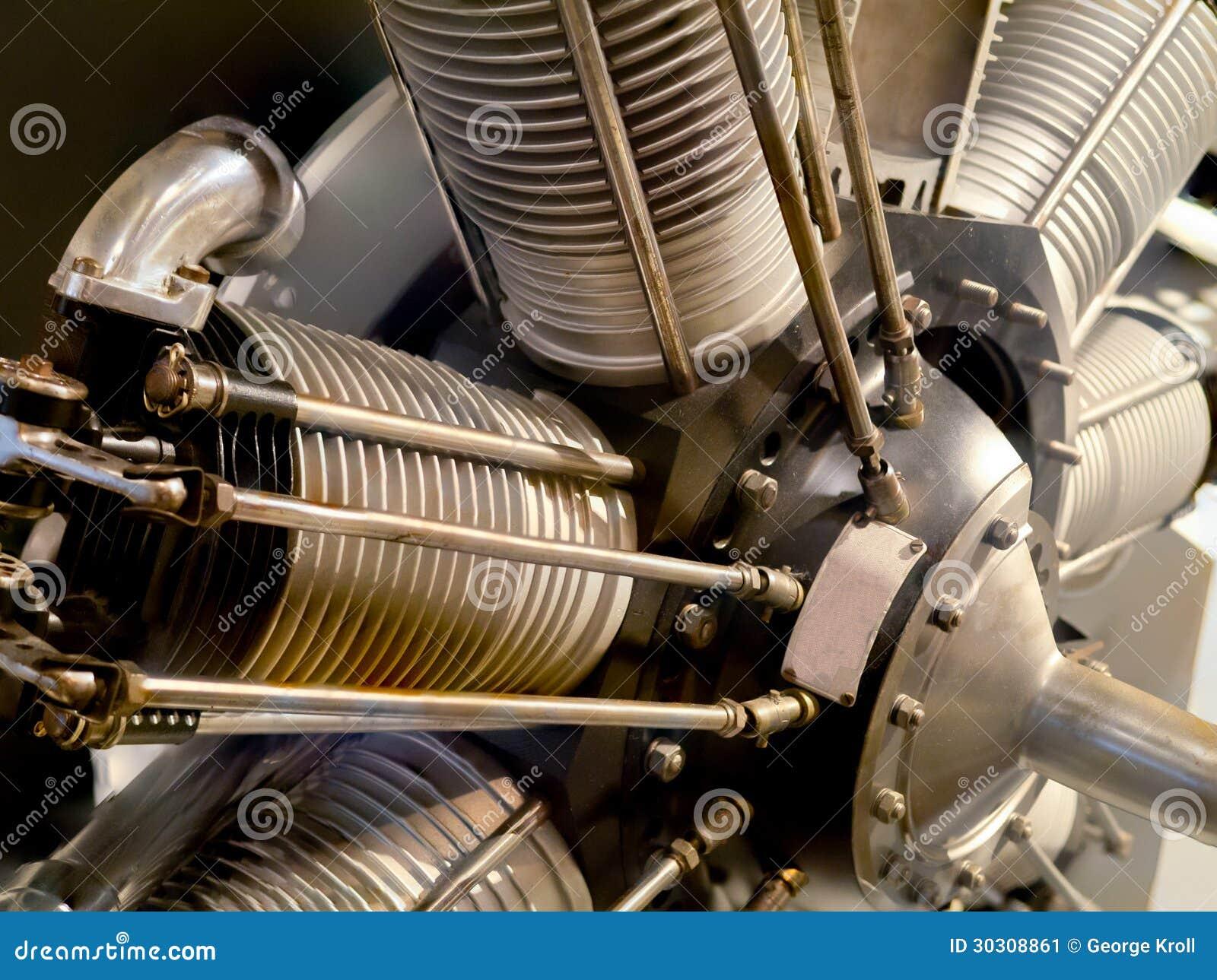 Vintage Radial Airplane Engine Stock Image - Image: 30308861