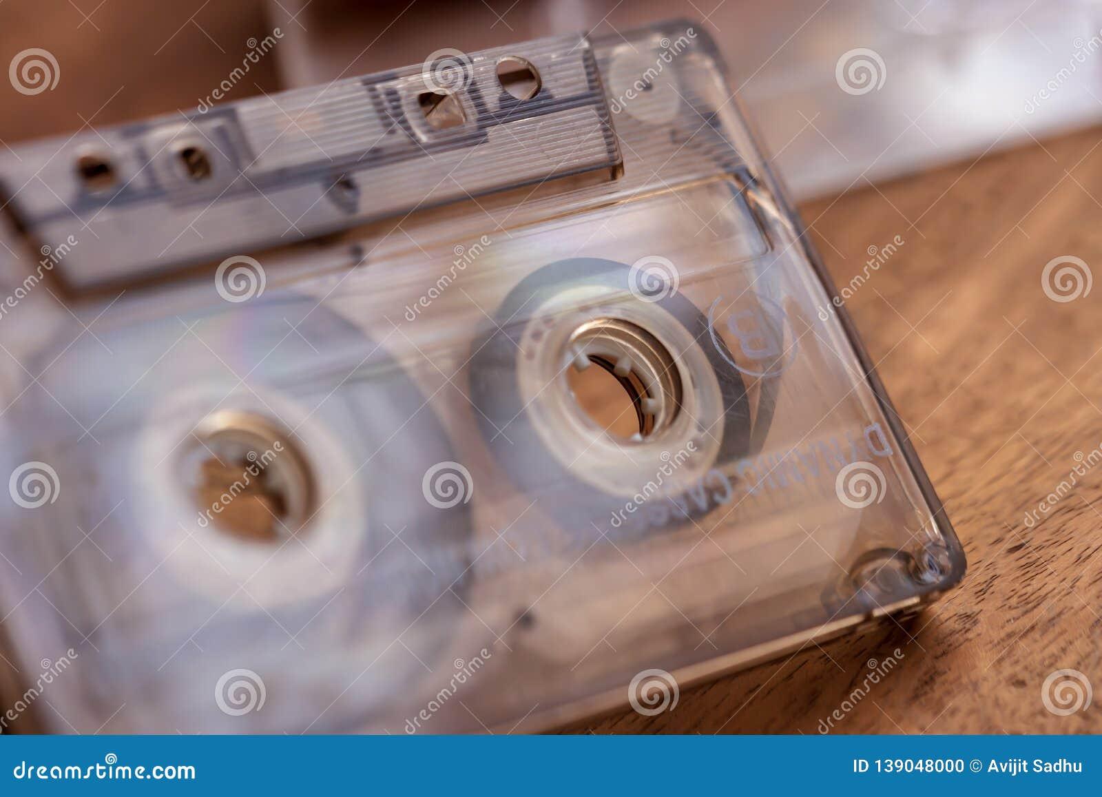 A Closeup Of A Vintage Cassette Tape
