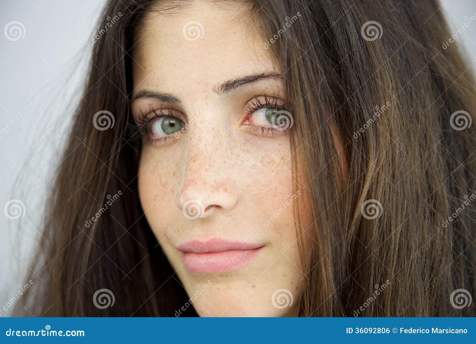 Closeup Of Woman Without Makeup Stock Photo - Image of ...