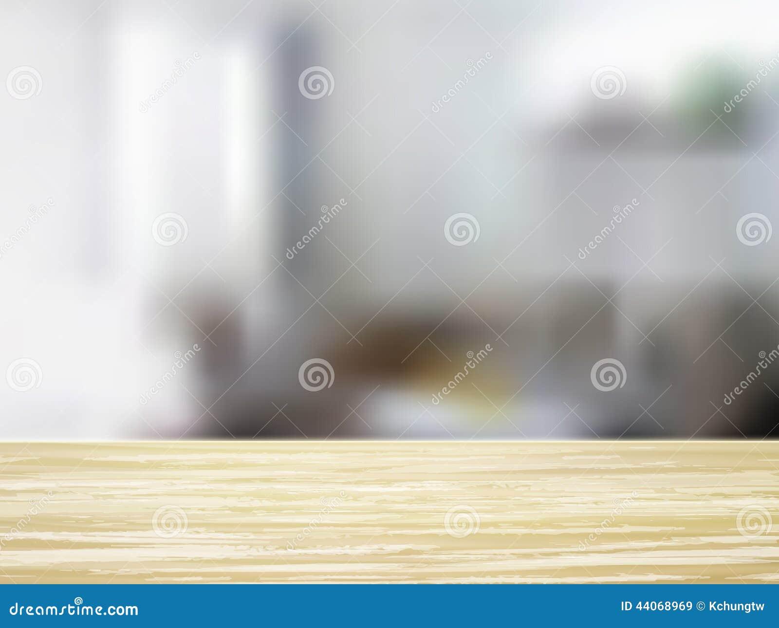 Interior wooden shelves free vector - Closeup Of Wooden Desk And Interior Stock Vector