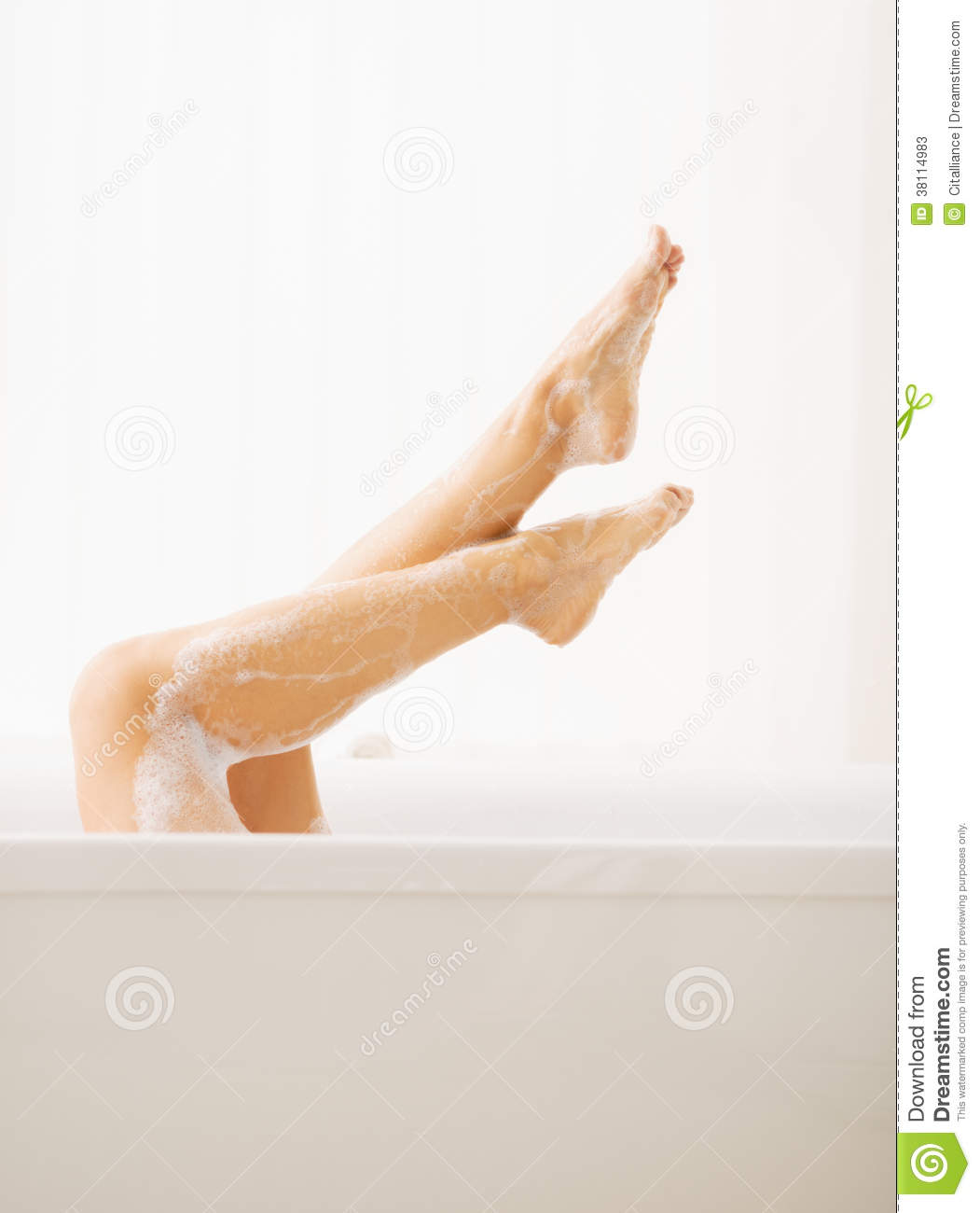 Closeup On Young Woman In Bathtub Showing Legs Stock Photos - Image ...