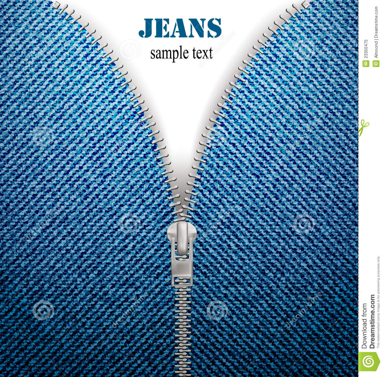 in blue jeans background