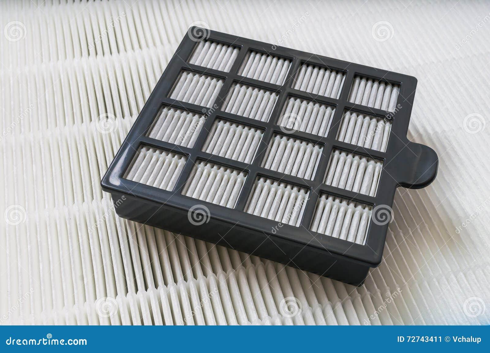 Closeupsikt på för partikelluft för hög effektivitet filtret