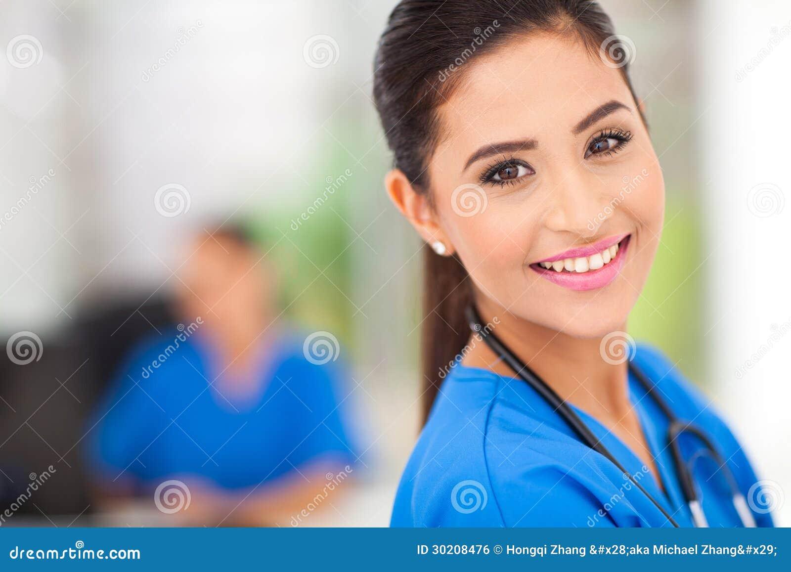 Medicinsk arbetarcloseup