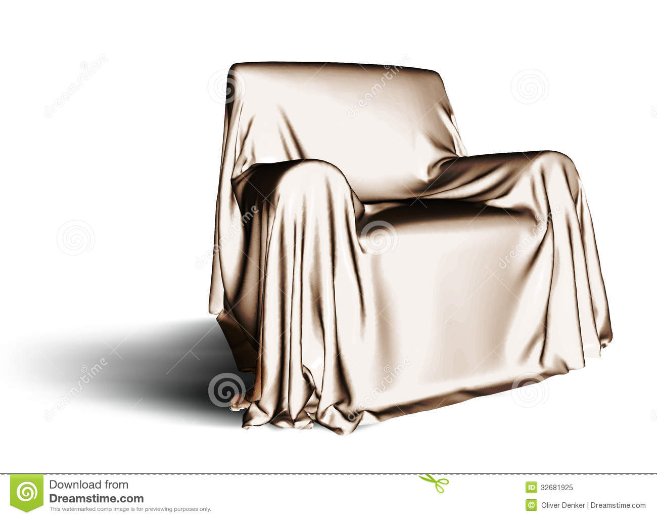 Cloth Covered Chair