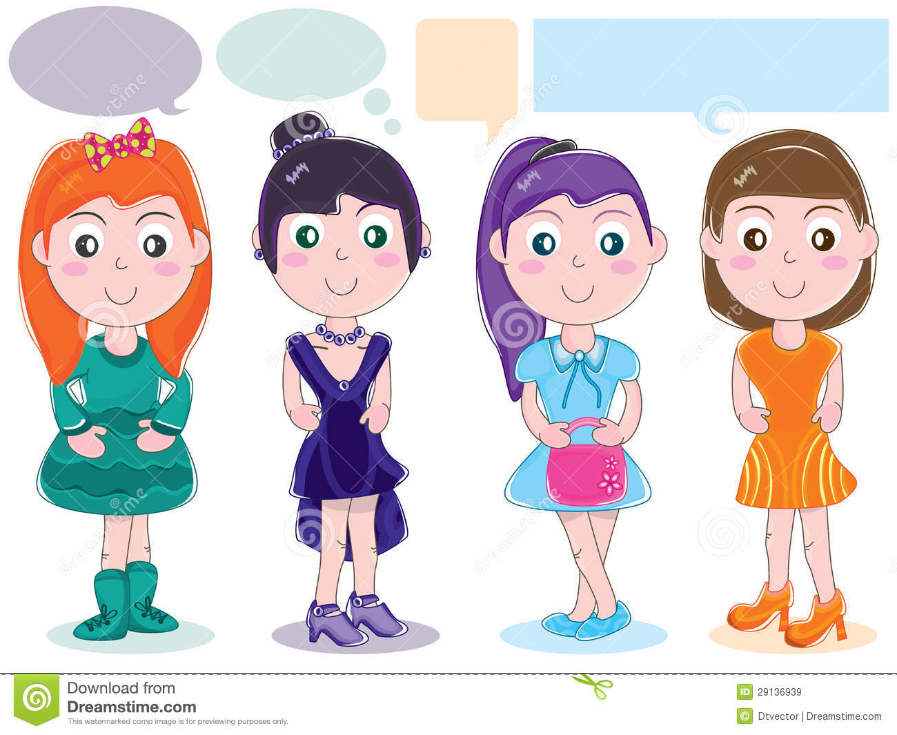 Cloth design character girl set eps royalty free stock images image