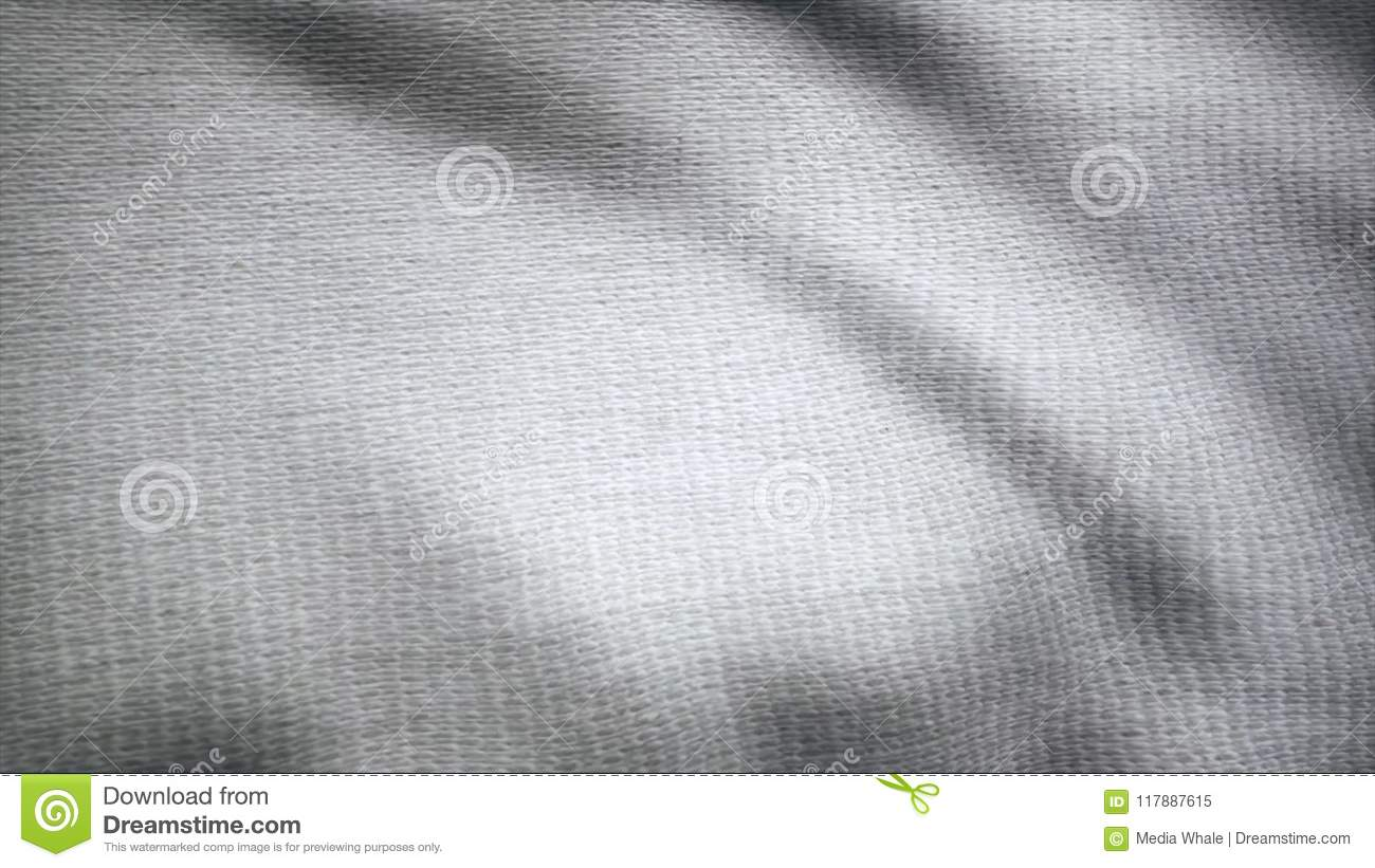 Cloth flutters. Waves of canvas animation. Background of satin fabric. Fabric background animation fluttering in the
