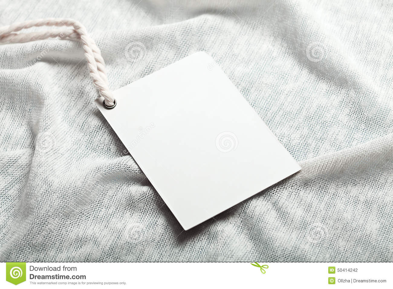 Cloth label blank whie mockup stock photo image 50414242 for Blank label clothing