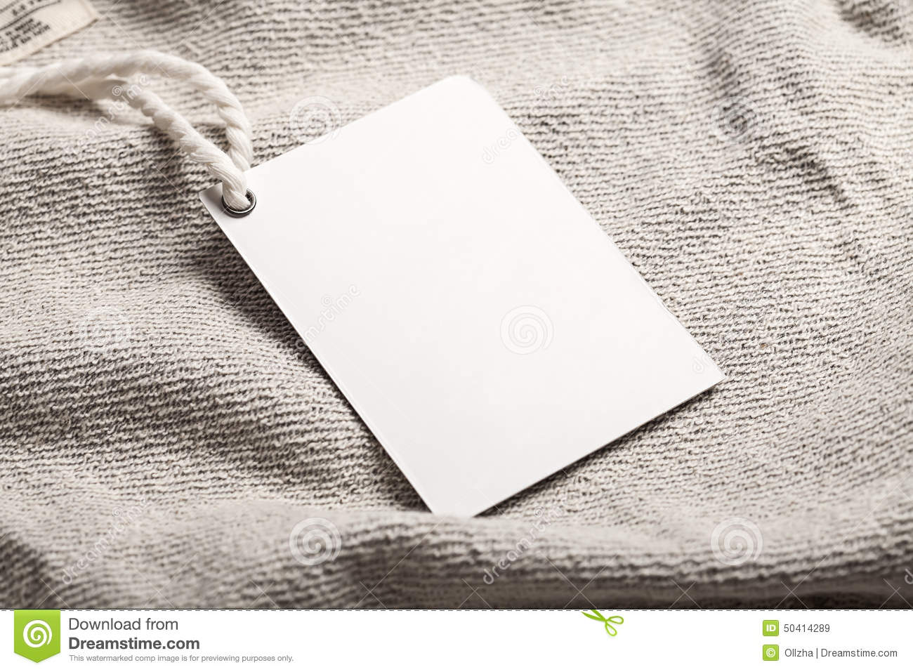 Cloth label tag blank mockup stock image image 50414289 for Blank label clothing