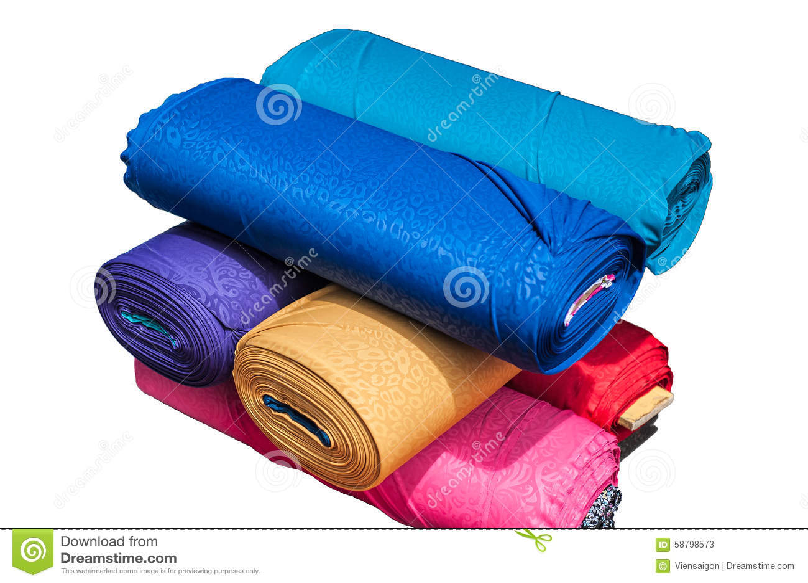 The cloth rolls