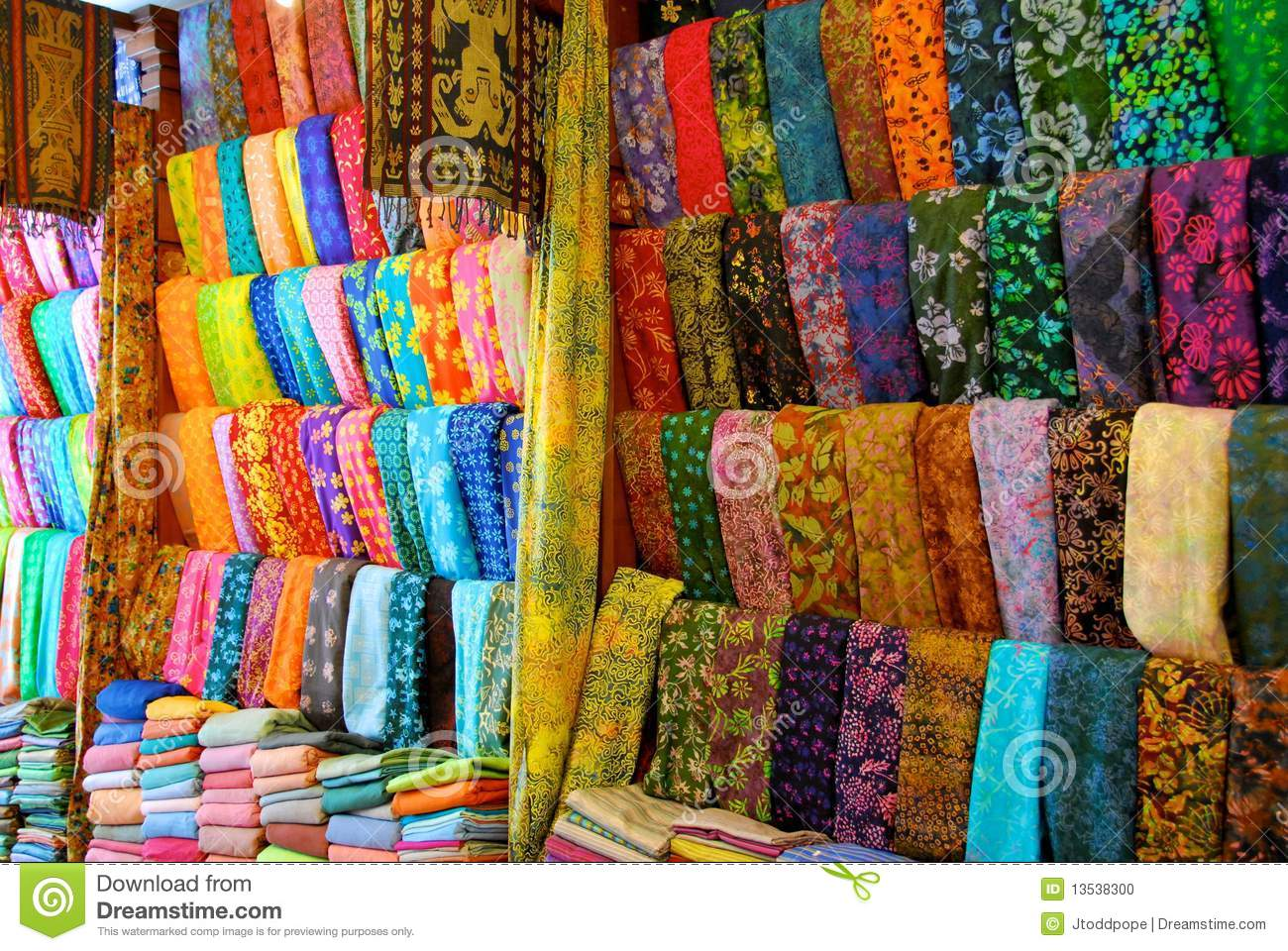 Cloth Shop In Bali Stock Photo Image Of Cloth Asian
