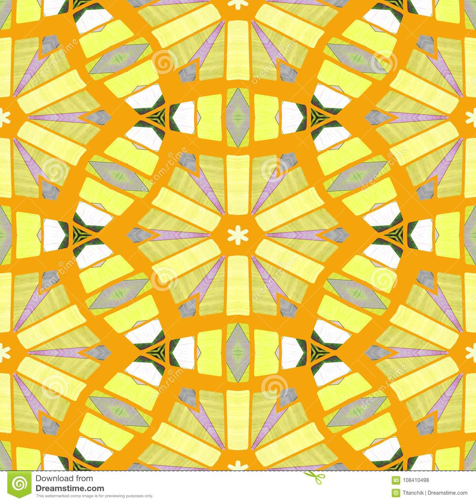 Spiritual And Mathematical- Mosaic Illustration. Print Napkins Stock ...