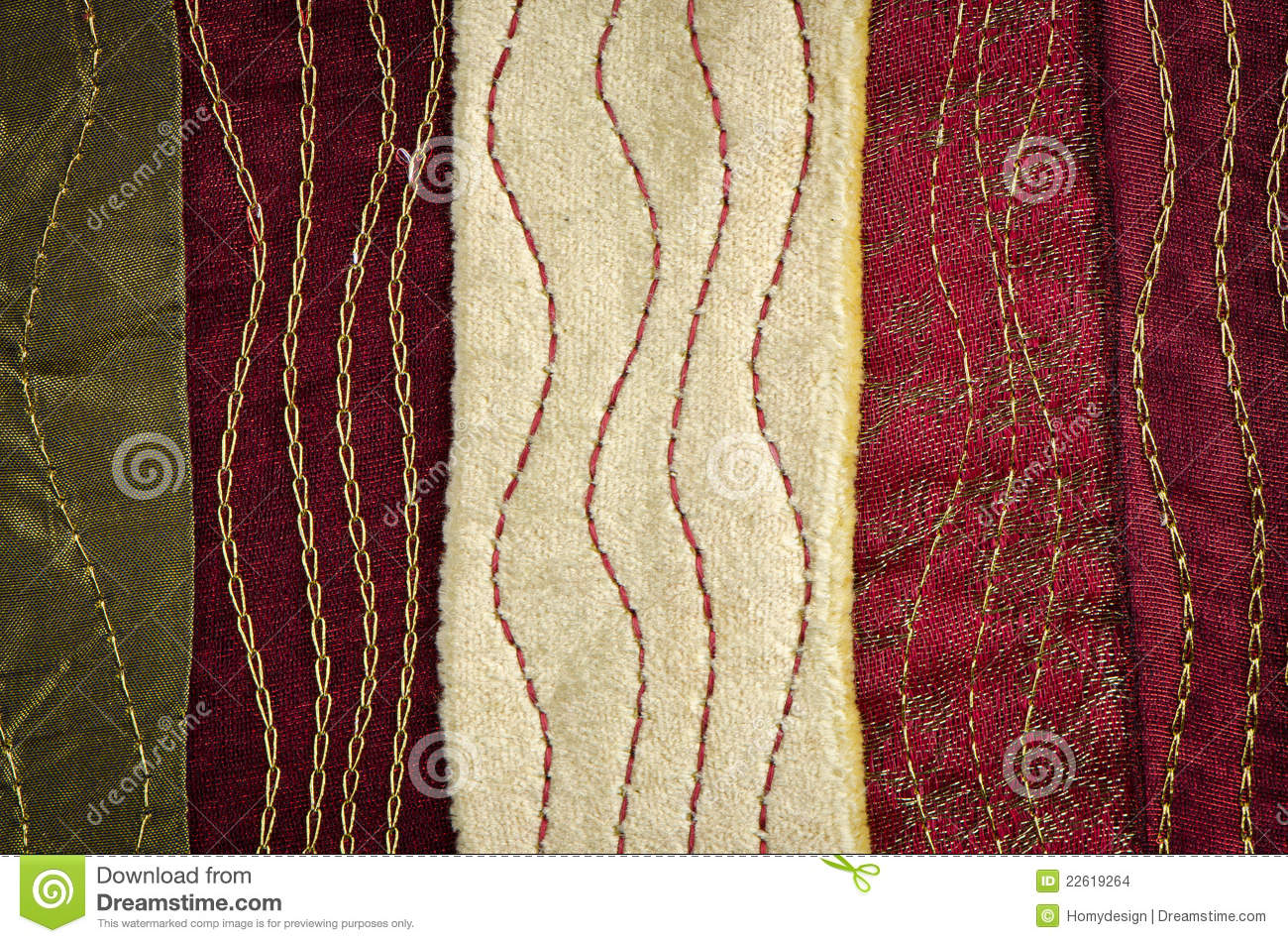 Red bed sheet texture - Cloth Texture