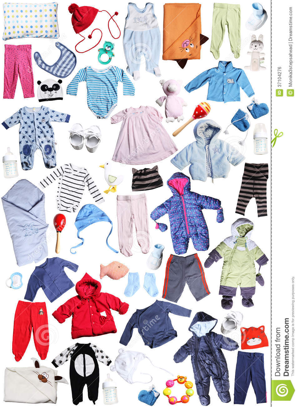 Clothes Accessories: Clothes And Accessories For Children Royalty Free Stock