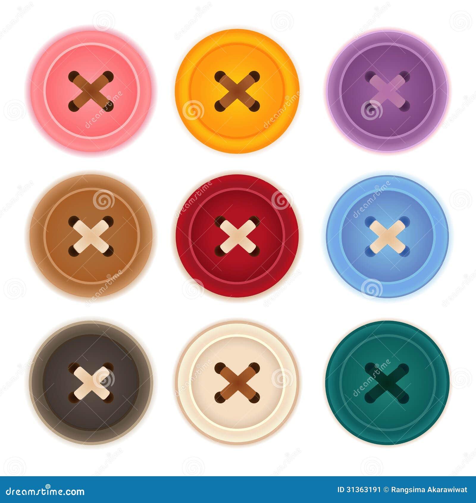 clothes buttons clip art - photo #43