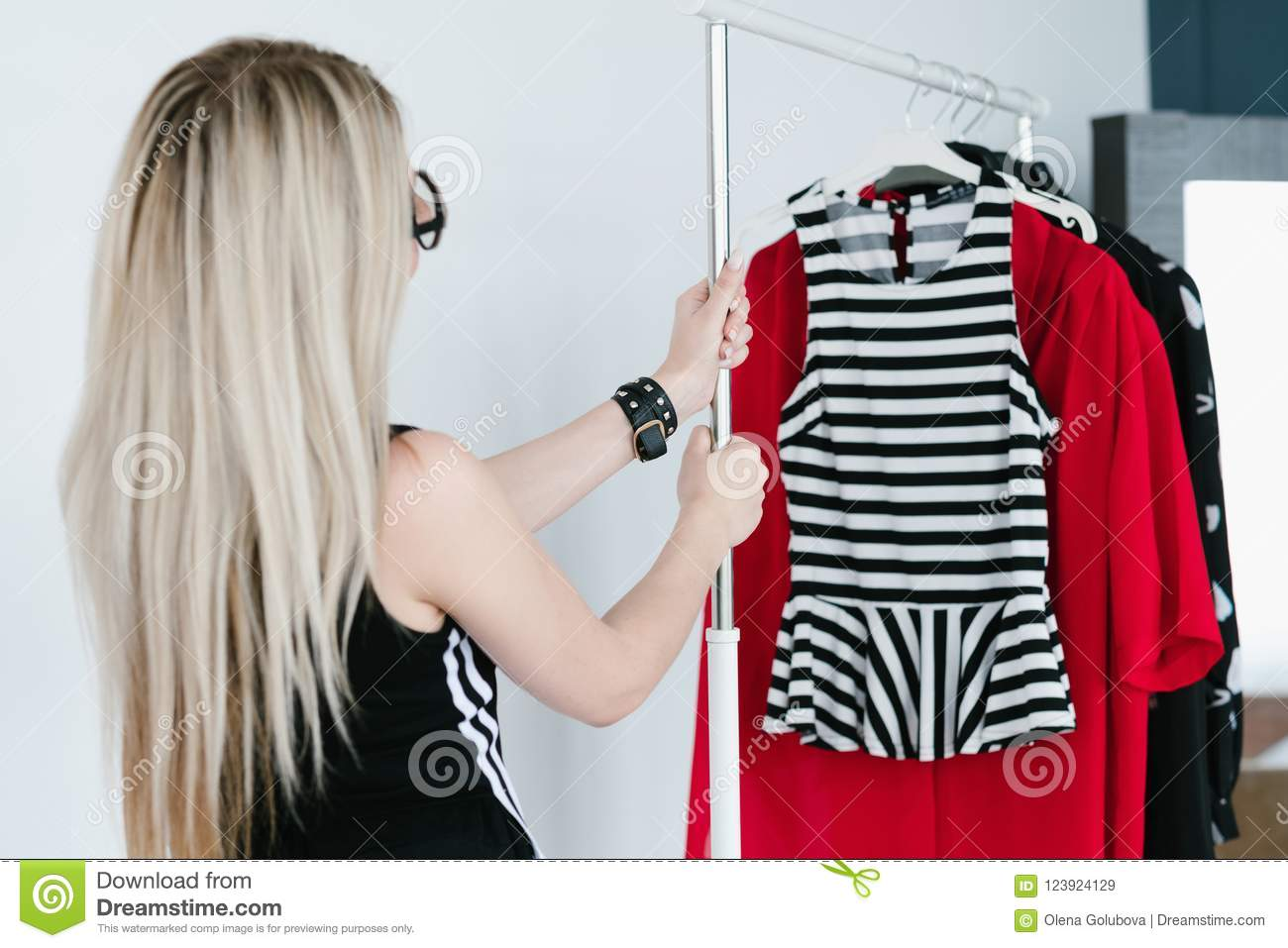 Clothes Designer Apparel Collection Fashion Hobby Stock Image Image Of Fashion Rack 123924129
