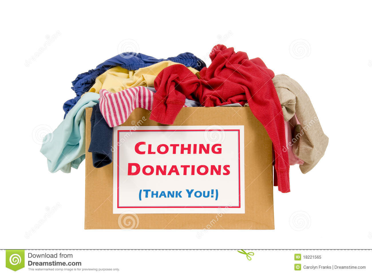 Clothes donation box royalty free stock photo image for Shirts that donate to charity
