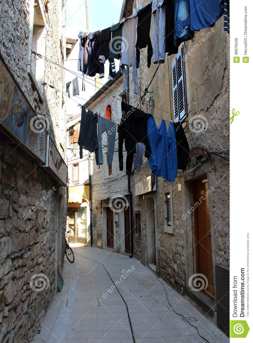 Clothes drying in Mediterranean street