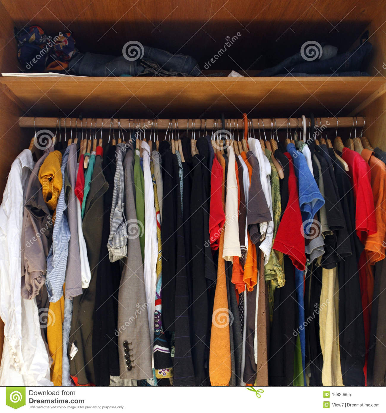 royaltyfree stock photo download clothes in full wardrobe