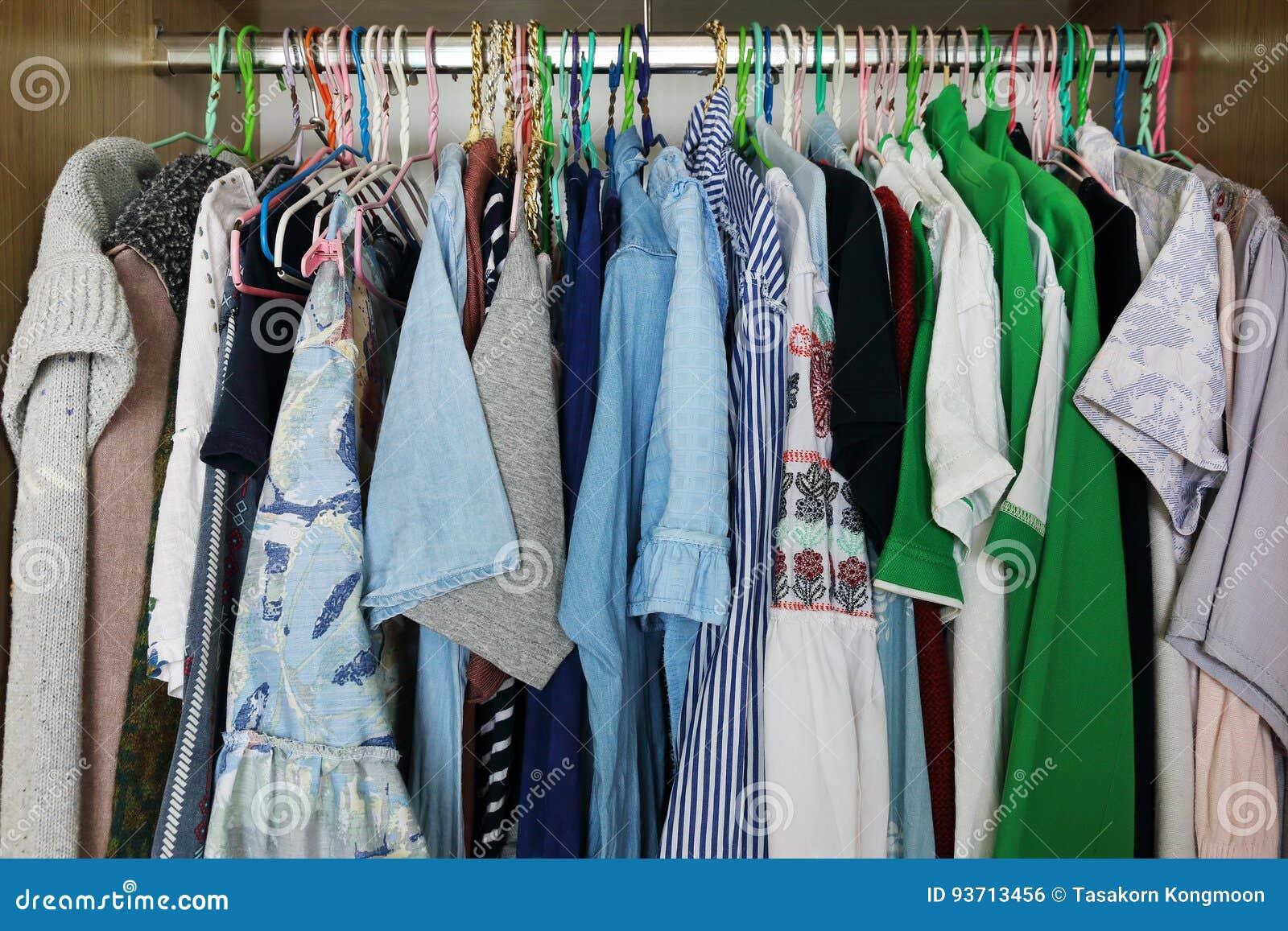 clothes hang in closet