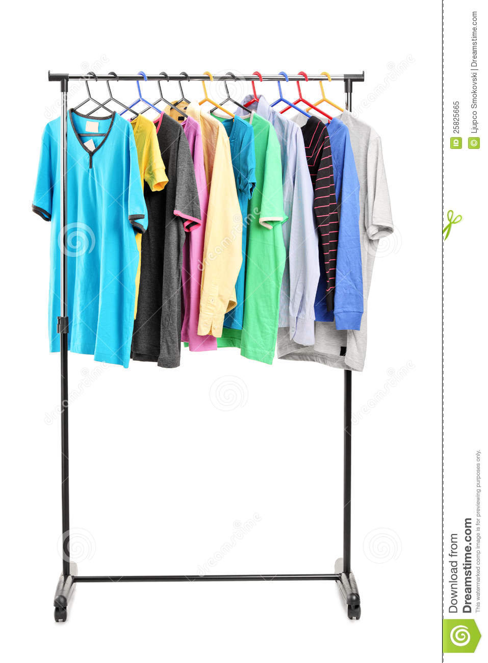 Clothes On Hang Rail Royalty Free Stock Photo Image 25825665