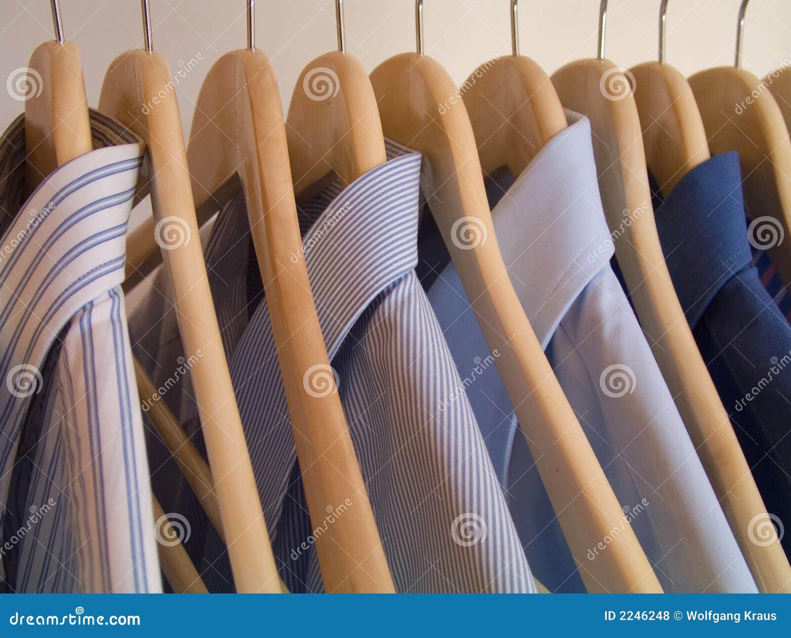 Clothes hanger stock photo image of closeup blue shirt for Clothespin photo hanger
