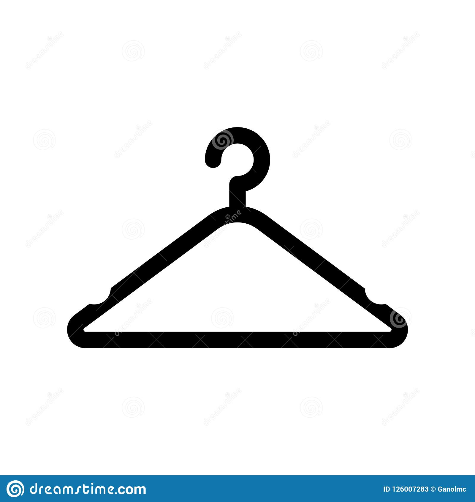 Clothes Hanger Iconctor Illustration Stock Vector Illustration