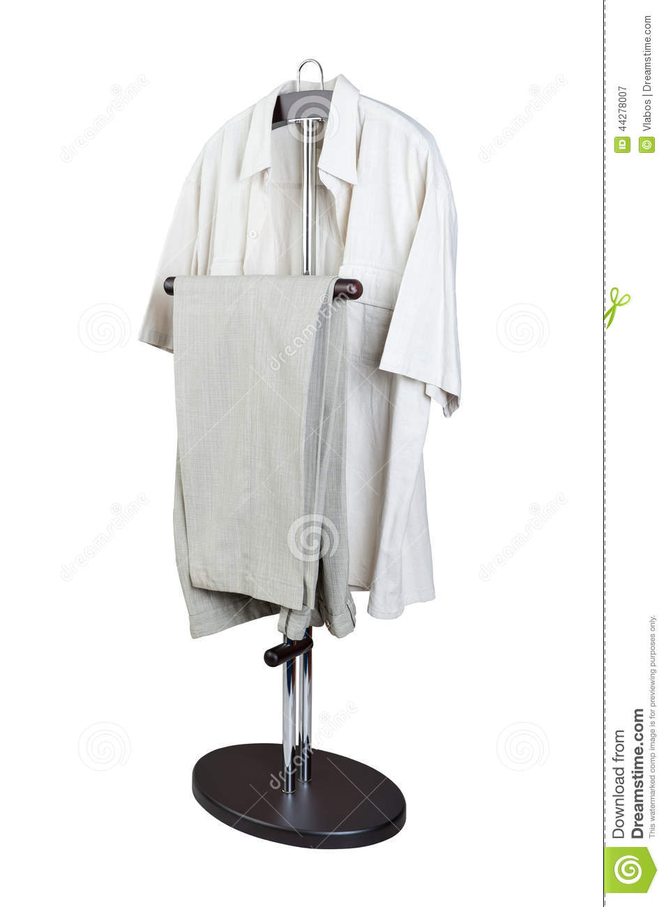 Clothes hanger stock photo image 44278007 for Clothespin photo hanger