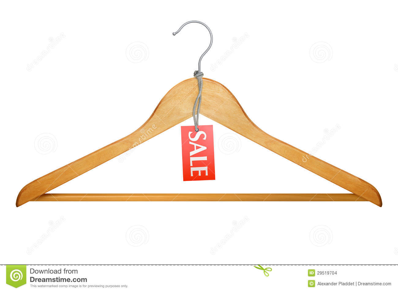 Clothes Hanger With Sale Tag Stock Photo Image 29519704