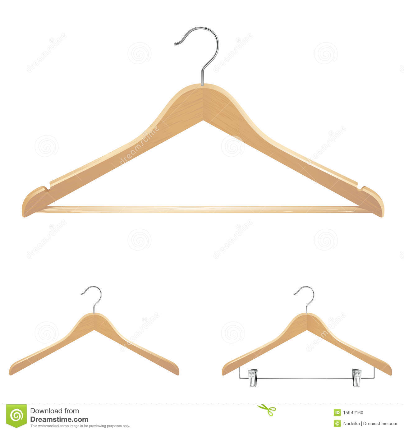 Clothes hangers stock photo image 15942160 for Clothespin photo hanger