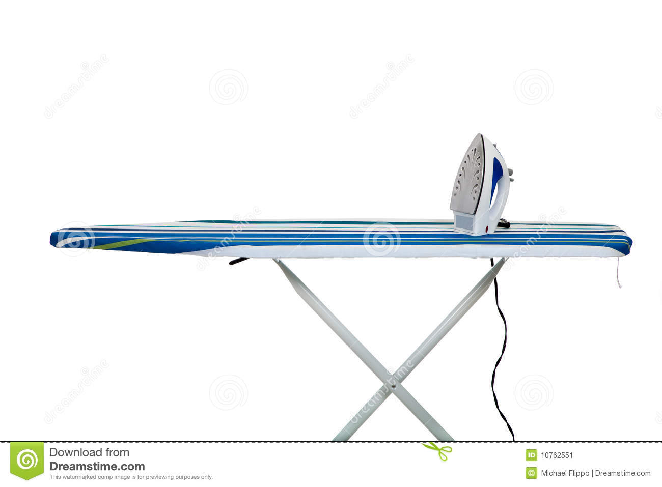 clothes iron and ironing board stock image image 10762551. Black Bedroom Furniture Sets. Home Design Ideas