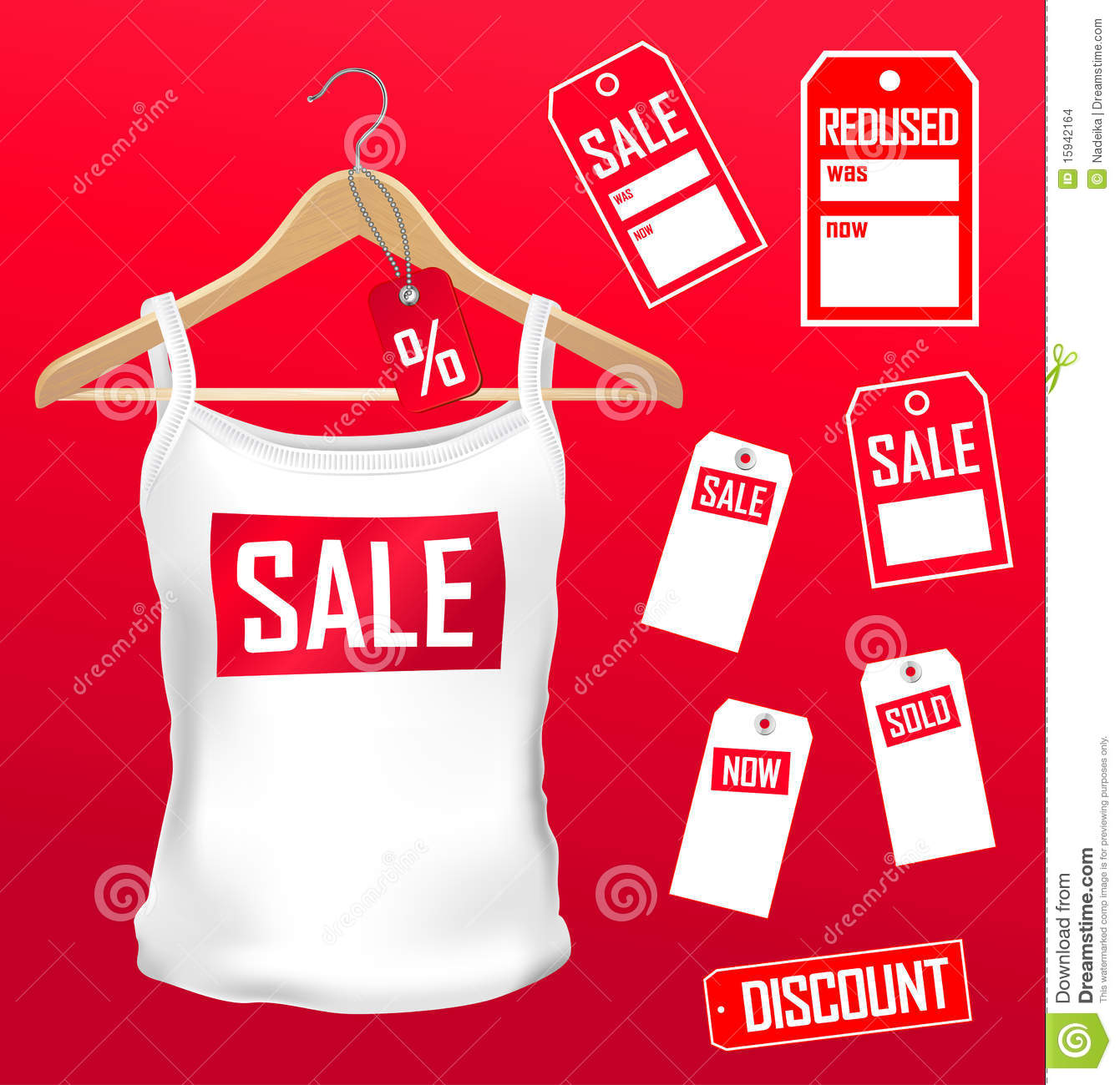 abfc46b940 Clothes labels sale set stock vector. Illustration of garments ...